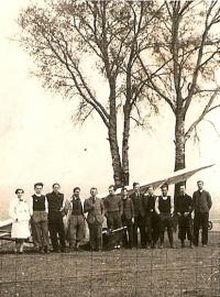 Kurz plachtařů r. 1935 Radouč