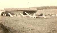 Hangár na Radouči r. 1938